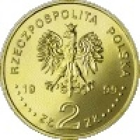 obverse of 2 Złote - Jan Laski (1999) coin with Y# 363 from Poland. Inscription: RZECZPOSPOLITA POLSKA 1999 ZŁ 2 ZŁ