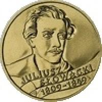 reverse of 2 Złote - Juliusz Slowacki (1999) coin with Y# 356 from Poland. Inscription: JULIUSZ SŁOWACKI 1809-1848