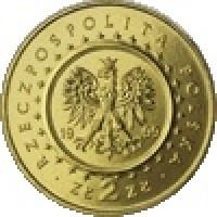 obverse of 2 Złote - Potocki Palace, Radzyn Podlaski (1999) coin with Y# 372 from Poland. Inscription: RZECZPOSPOLITA POLSKA 19 99 ZŁ 2 ZŁ MW