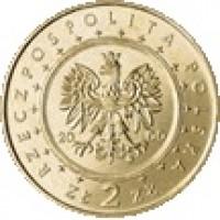 obverse of 2 Złote - Wilanowie Palace (2000) coin with Y# 390 from Poland. Inscription: RZECZPOSPOLITA POLSKA 2000 ZŁ 2 ZŁ