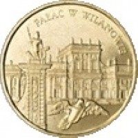 reverse of 2 Złote - Wilanowie Palace (2000) coin with Y# 390 from Poland. Inscription: PAŁAC W WILANOWIE