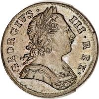 obverse of 1 Farthing - George III (1771 - 1775) coin with KM# 602 from United Kingdom. Inscription: GEORGIVS · III · REX ·