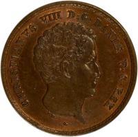 obverse of 1 Rigsbankskilling - Christian VIII (1842) coin with KM# 726 from Denmark. Inscription: CHRISTIANUS VIII D:G:DANIÆ V:G:REX F.K.