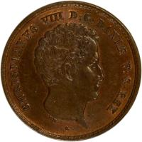 obverse of 1 Rigsbankskilling - Christian VIII (1842) coin with KM# 726 from Denmark. Inscription: CHRISTIANUS VIII D:G:DANIÆ V:G:REX F.K.
