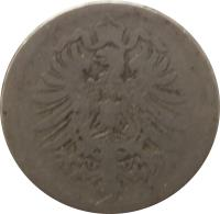 obverse of 10 Pfennig - Wilhelm I - Small eagle (1873 - 1889) coin with KM# 4 from Germany. Inscription: A A