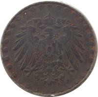obverse of 10 Pfennig - Wilhelm II - Large eagle; Beaded border (1916 - 1922) coin with KM# 20 from Germany. Inscription: A A
