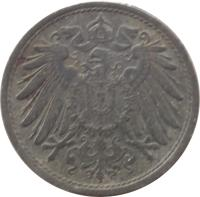 obverse of 10 Pfennig - Wilhelm II - Large eagle; Without mintmark (1917 - 1922) coin with KM# 26 from Germany.