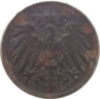 obverse of 5 Pfennig - Wilhelm II - Large eagle (1915 - 1922) coin with KM# 19 from Germany. Inscription: A A