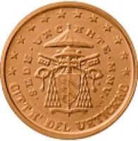 obverse of 2 Euro Cent - Sede Vacante (2005) coin with KM# 366 from Vatican City. Inscription: CITTA' DEL VATICANO · SEDE · VACANTE · MMV · R D. LONGO LDS INC. CARITAS ET VERITAS