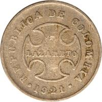 obverse of 10 Centavos - Leprosarium Coinage (1921) coin with KM# L12 from Colombia.