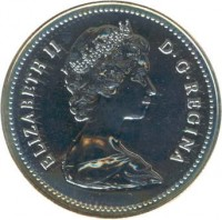 obverse of 1 Dollar - Elizabeth II - Arctic Territories (1980) coin with KM# 128 from Canada.