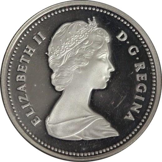 Canada Silver Proof Dollar 1983 Edmonton World University Games .500
