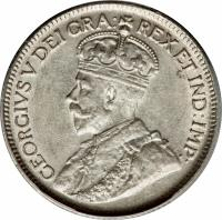 obverse of 9 Piastres - George V (1913 - 1921) coin with KM# 13 from Cyprus. Inscription: B.M. GEORGIVS V DEI GRA: REX ET IND:IMP: