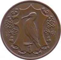 reverse of 1 Penny - Elizabeth II - College of Arms - 2'nd Portrait (1984) coin with KM# 112 from Isle of Man. Inscription: 1
