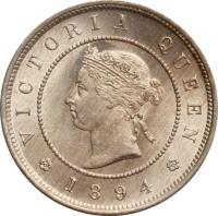 obverse of 1 Farthing - Victoria (1880 - 1900) coin with KM# 15 from Jamaica. Inscription: VICTORIA QUEEN 1897