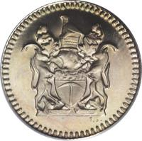 obverse of 5 Cents (1973) coin with KM# 12 from Rhodesia.