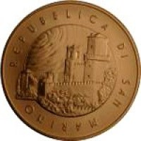obverse of 5 Euro - Manned Space Flight (2011) coin with KM# 502 from San Marino. Inscription: REPUBBLICA DI SAN MARINO