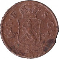 obverse of 2 Öre Silfwermynt - Adolf Frederick (1751 - 1768) coin with KM# 461 from Sweden. Inscription: A.F. S.G.