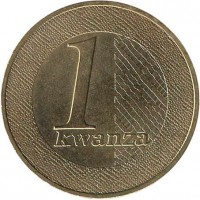 reverse of 1 Kwanza (2012) coin with KM# 108 from Angola. Inscription: 1 KWANZA