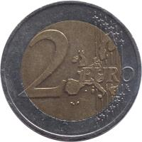 reverse of 2 Euro - 1'st Map (2002 - 2006) coin with KM# 3089 from Austria. Inscription: 2 EURO LL