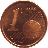 reverse of 1 Euro Cent - Juan Carlos I - 1'st Type (1999 - 2009) coin with KM# 1040 from Spain. Inscription: 1 EURO CENT LL