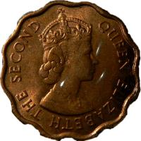 obverse of 1 Cent - Elizabeth II - 1'st Portrait (1973 - 1976) coin with KM# 33 from Belize. Inscription: QUEEN ELIZABETH THE SECOND