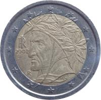 obverse of 2 Euro - 1'st Map (2002 - 2007) coin with KM# 217 from Italy. Inscription: M.C.C. RI R 2005