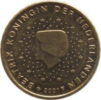 obverse of 10 Euro Cent - Beatrix - 1'st Map (1999 - 2006) coin with KM# 237 from Netherlands. Inscription: BEATRIX KONINGIN DER NEDERLANDEN 2006