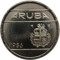 obverse of 5 Cents - Beatrix (1986 - 2014) coin with KM# 1 from Aruba. Inscription: ARUBA 2001