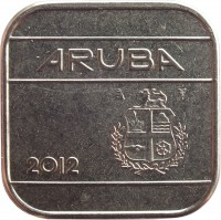 obverse of 50 Cents - Beatrix (1986 - 2014) coin with KM# 4 from Aruba. Inscription: ARUBA 2012