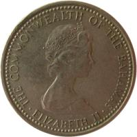 obverse of 5 Cents - Elizabeth II - 2'nd Portrait (1973) coin with KM# 38 from Bahamas. Inscription: THE COMMONWEALTH OF THE BAHAMAS · ELIZABETH II ·