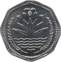 obverse of 50 Poisha - FAO (2001) coin with KM# 24 from Bangladesh.