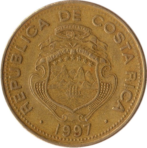 100 colones  1997-1999  costa rica km  230a