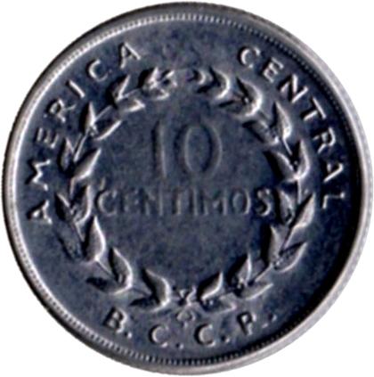 1967 Costa Rica 10 Centimos