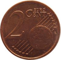 reverse of 2 Euro Cent (2011 - 2016) coin with KM# 62 from Estonia. Inscription: 2 EURO CENT LL
