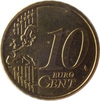 reverse of 10 Euro Cent - 2'nd Map (2011) coin with KM# 64 from Estonia. Inscription: 10 EURO CENT LL
