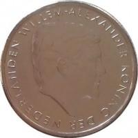 obverse of 1 Florin - Willem-Alexander (2014) coin with KM# 56 from Aruba. Inscription: WILLEM-ALEXANDER KONING DER NEDERLANDEN
