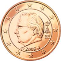 obverse of 5 Euro Cent - Albert II - 2'nd Type; 1'st Portrait (2009 - 2013) coin with KM# 276b from Belgium. Inscription: A II 2012 BE