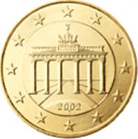 obverse of 10 Euro Cent - 2'nd Map (2007 - 2015) coin with KM# 254 from Germany. Inscription: 2007 A