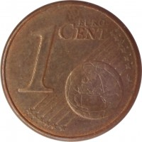 reverse of 1 Euro Cent (1999 - 2015) coin with KM# 1282 from France. Inscription: 1 EURO CENT LL
