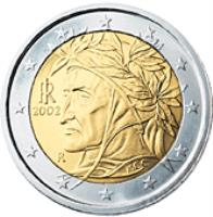 obverse of 2 Euro - 2'nd Map (2008 - 2015) coin with KM# 251 from Italy. Inscription: M.C.C. RI R 2008