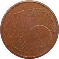 reverse of 1 Euro Cent - Beatrix (1999 - 2013) coin with KM# 234 from Netherlands. Inscription: 1 EURO CENT LL