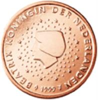obverse of 2 Euro Cent - Beatrix (1999 - 2013) coin with KM# 235 from Netherlands. Inscription: BEATRIX KONINGIN DER NEDERLANDEN 2007 GC