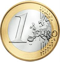 reverse of 1 Euro - Benedict XVI - 2'nd Map (2008 - 2013) coin with KM# 388 from Vatican City. Inscription: 1 EURO LL