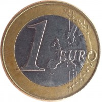 reverse of 1 Euro (2008 - 2016) coin with KM# 84 from Cyprus. Inscription: 1 EURO LL