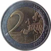 reverse of 2 Euro (2008 - 2016) coin with KM# 85 from Cyprus. Inscription: 2 EURO LL