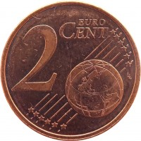 reverse of 2 Euro Cent (2008 - 2016) coin with KM# 79 from Cyprus. Inscription: 2 EURO CENT LL