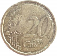 reverse of 20 Euro Cent - 2'nd Map (2011) coin with KM# 65 from Estonia. Inscription: 20 EURO CENT LL
