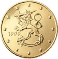 obverse of 10 Euro Cent - 2'nd Map (2007 - 2015) coin with KM# 126 from Finland. Inscription: 2010 FI