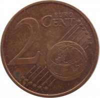 reverse of 2 Euro Cent (2002 - 2015) coin with KM# 33 from Ireland. Inscription: 2 EURO CENT LL